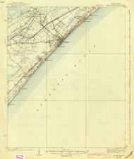Myrtle Beach, South Carolina 1940 (1940c) USGS Old Topo Map 15x15 Quad