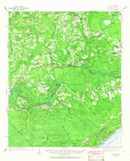 Nixonville, South Carolina 1937 (1966) USGS Old Topo Map 15x15 Quad