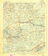 Nixonville, South Carolina 1942 (1942a) USGS Old Topo Map 15x15 Quad