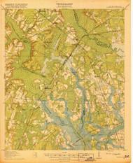 Yemassee, South Carolina 1918 (1918) USGS Old Topo Map 15x15 Quad
