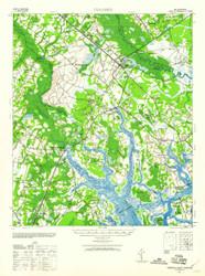 Yemassee, South Carolina 1943 (1960b) USGS Old Topo Map 15x15 Quad