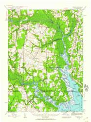 Back Bay, Virginia 1939 (1959) USGS Old Topo Map 15x15 Quad