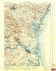 Exeter, New Hampshire 1934 (1934) USGS Old Topo Map 15x15 Quad