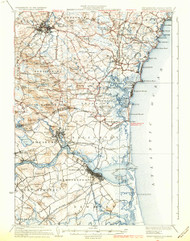 Newburyport, New Hampshire 1934 (1934 b) USGS Old Topo Map 15x15 Quad