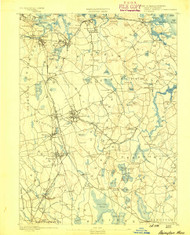 Abington, Massachusetts 1888 (1888) USGS Old Topo Map 15x15 Quad