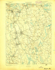 Abington, Massachusetts 1893 (1893) USGS Old Topo Map 15x15 Quad