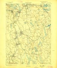 Abington, Massachusetts 1893 (1898) USGS Old Topo Map 15x15 Quad