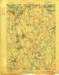 Abington, Massachusetts 1893 (1902) USGS Old Topo Map 15x15 Quad