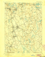 Abington, Massachusetts 1893 (1905) USGS Old Topo Map 15x15 Quad