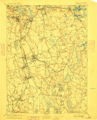 Abington, Massachusetts 1893 (1910) USGS Old Topo Map 15x15 Quad