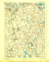 Abington, Massachusetts 1893 (1926) USGS Old Topo Map 15x15 Quad