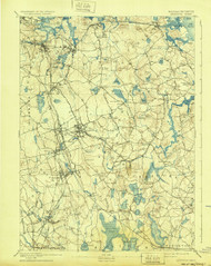 Abington, Massachusetts 1893 (1932) USGS Old Topo Map 15x15 Quad