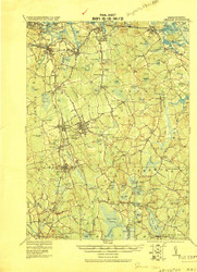 Abington, Massachusetts 1920 (1920) USGS Old Topo Map 15x15 Quad