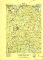 Abington, Massachusetts 1920 (1920) USGS Old Topo Map 15x15 Quad