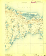 Barnstable, Massachusetts 1888 (1888) USGS Old Topo Map 15x15 Quad