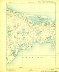 Barnstable, Massachusetts 1893 (1893) USGS Old Topo Map 15x15 Quad