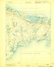 Barnstable, Massachusetts 1893 (1893) USGS Old Topo Map 15x15 Quad