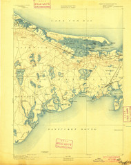 Barnstable, Massachusetts 1893 (1900) USGS Old Topo Map 15x15 Quad