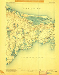 Barnstable, Massachusetts 1893 (1907) USGS Old Topo Map 15x15 Quad