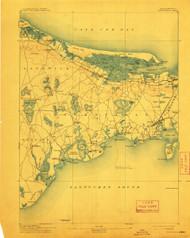 Barnstable, Massachusetts 1893 (1913) USGS Old Topo Map 15x15 Quad
