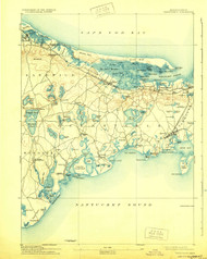 Barnstable, Massachusetts 1893 (1929) USGS Old Topo Map 15x15 Quad