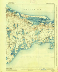Barnstable, Massachusetts 1893 (1938) USGS Old Topo Map 15x15 Quad
