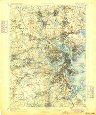Boston, Massachusetts 1893 (1900) USGS Old Topo Map 15x15 Quad