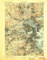 Boston, Massachusetts 1903 (1903) USGS Old Topo Map 15x15 Quad