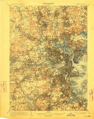 Boston, Massachusetts 1903 (1912) USGS Old Topo Map 15x15 Quad