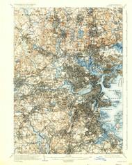 Boston, Massachusetts 1903 (1931a) USGS Old Topo Map 15x15 Quad