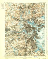 Boston, Massachusetts 1903 (1931b) USGS Old Topo Map 15x15 Quad