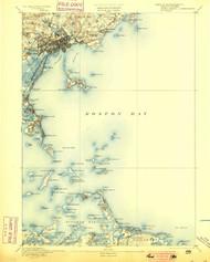 Boston Bay, Massachusetts 1892 (1900) USGS Old Topo Map 15x15 Quad