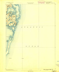 Chatham, Massachusetts 1888 (1888) USGS Old Topo Map 15x15 Quad