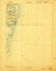 Chatham, Massachusetts 1893 (1893) USGS Old Topo Map 15x15 Quad