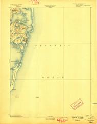 Chatham, Massachusetts 1893 (1898) USGS Old Topo Map 15x15 Quad