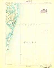 Chatham, Massachusetts 1893 (1905) USGS Old Topo Map 15x15 Quad
