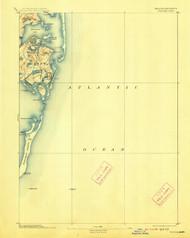 Chatham, Massachusetts 1893 (1913) USGS Old Topo Map 15x15 Quad