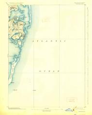 Chatham, Massachusetts 1893 (1926) USGS Old Topo Map 15x15 Quad