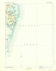 Chatham, Massachusetts 1893 (1934) USGS Old Topo Map 15x15 Quad