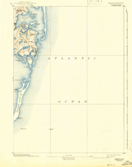 Chatham, Massachusetts 1893 (1942) USGS Old Topo Map 15x15 Quad