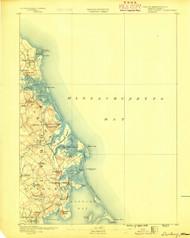 Duxbury, Massachusetts 1888 (1888) USGS Old Topo Map 15x15 Quad