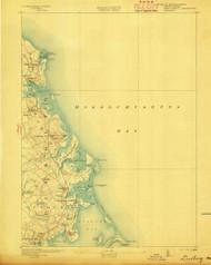 Duxbury, Massachusetts 1893 (1893) USGS Old Topo Map 15x15 Quad