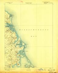 Duxbury, Massachusetts 1893 (1898) USGS Old Topo Map 15x15 Quad