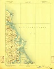 Duxbury, Massachusetts 1893 (1904) USGS Old Topo Map 15x15 Quad