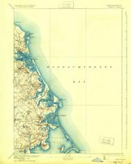 Duxbury, Massachusetts 1893 (1925) USGS Old Topo Map 15x15 Quad