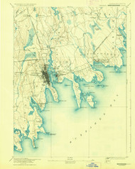 Fairhaven, Massachusetts 1893 (1930) USGS Old Topo Map 15x15 Quad