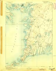 Falmouth, Massachusetts 1893 (1893) USGS Old Topo Map 15x15 Quad