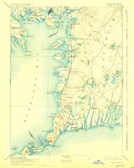 Falmouth, Massachusetts 1893 (1926) USGS Old Topo Map 15x15 Quad