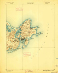 Gloucester, Massachusetts 1888 (1888) USGS Old Topo Map 15x15 Quad