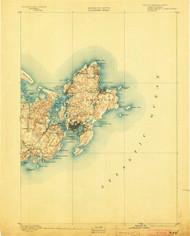 Gloucester, Massachusetts 1893 (1903) USGS Old Topo Map 15x15 Quad